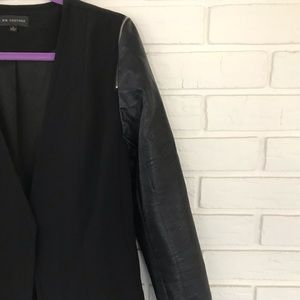MM Couture Faux Leather Blazer